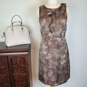 LOFT Brown Taupe Sheath Sleeveless Dress, 8